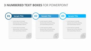 3 Numbered Text Boxes for PowerPoint