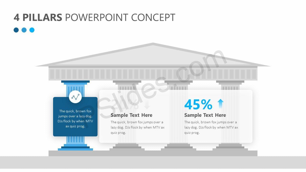 4 Pillars PowerPoint Concept Slide 2