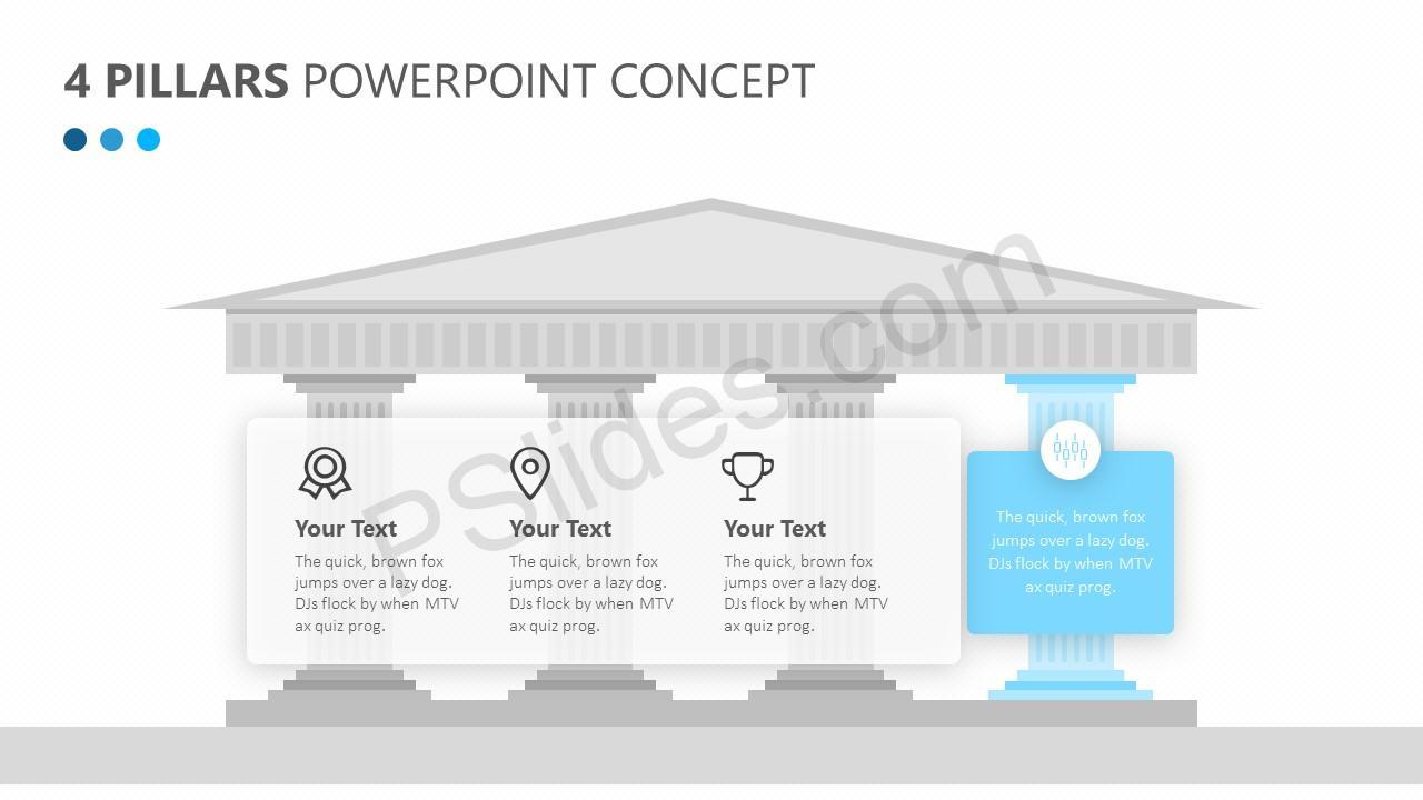 4 Pillars PowerPoint Concept Slide 3