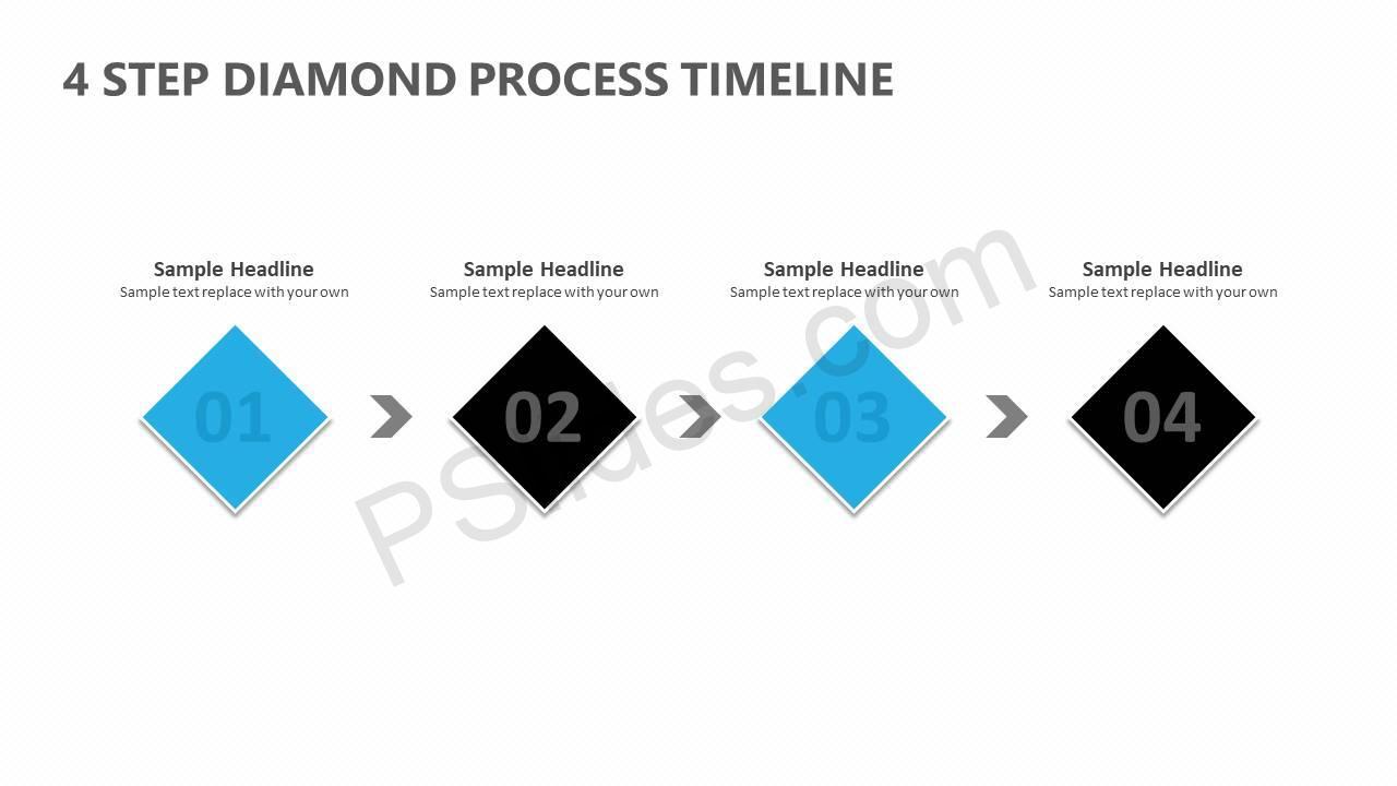 4-Step-Diamond-Process-PowerPoint-Diagram-Slide1