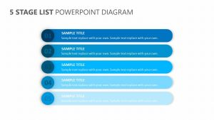 5 Stage List for PowerPoint