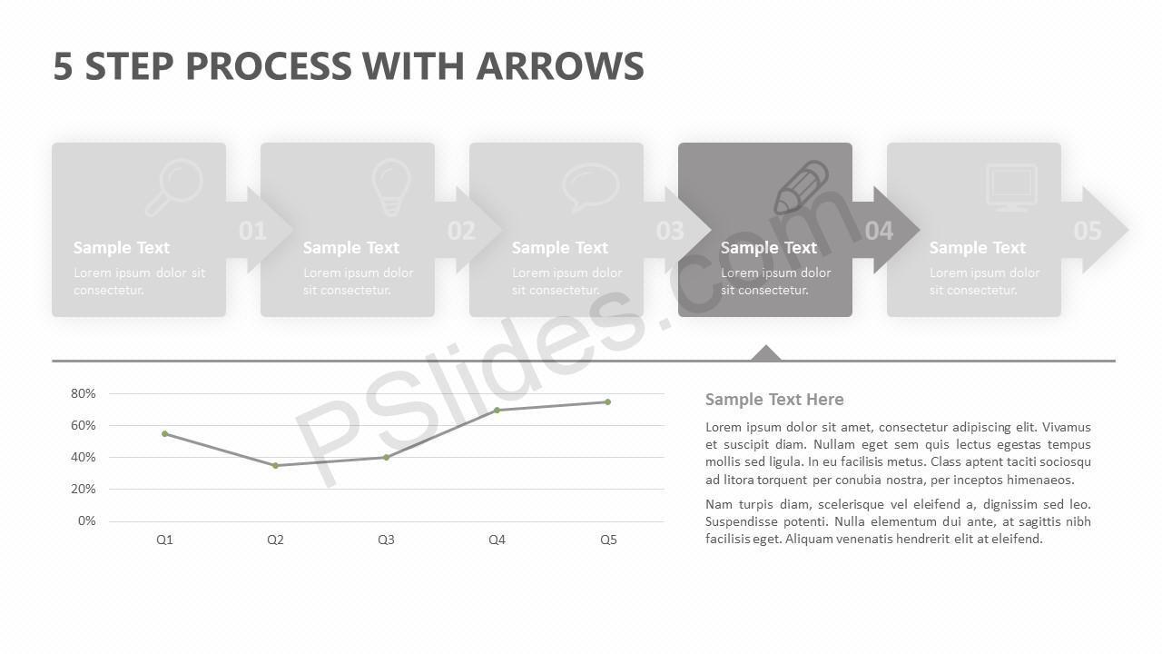5 Step Process With Arrows Slide 2