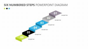 6 Numbered Steps PowerPoint Diagram