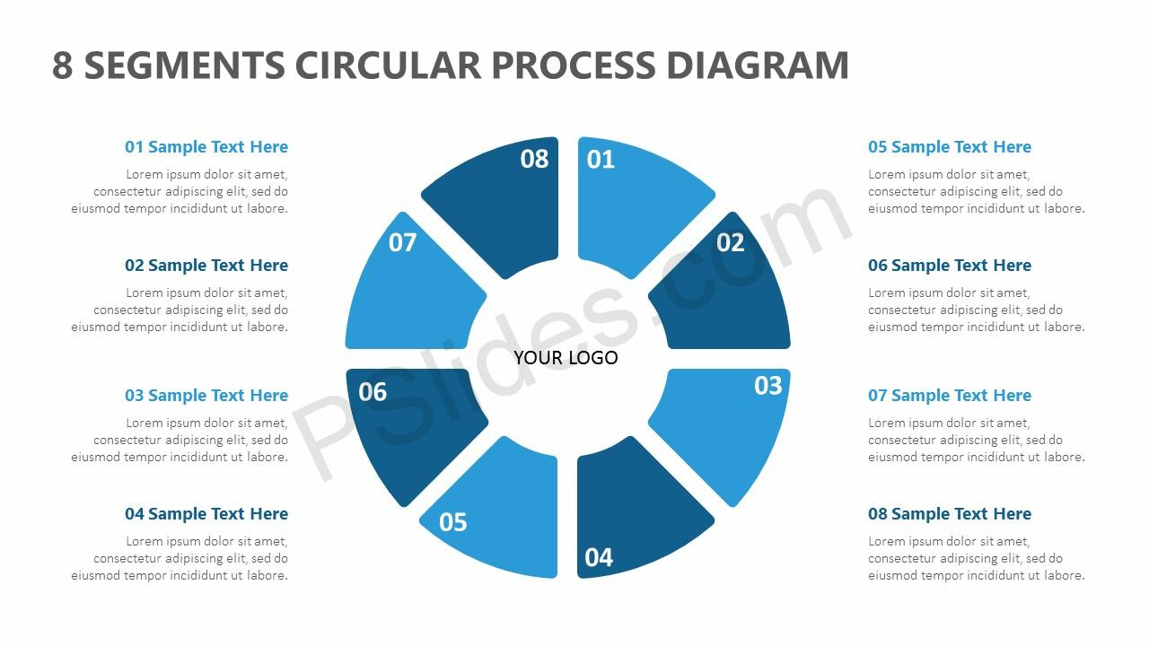 8 Segments Circular Process Diagram