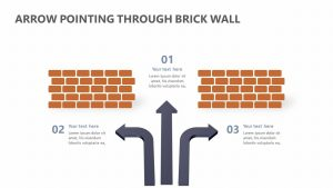 Arrow Pointing Through Brick Wall