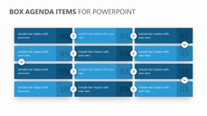 Box Agenda Items for PowerPoint