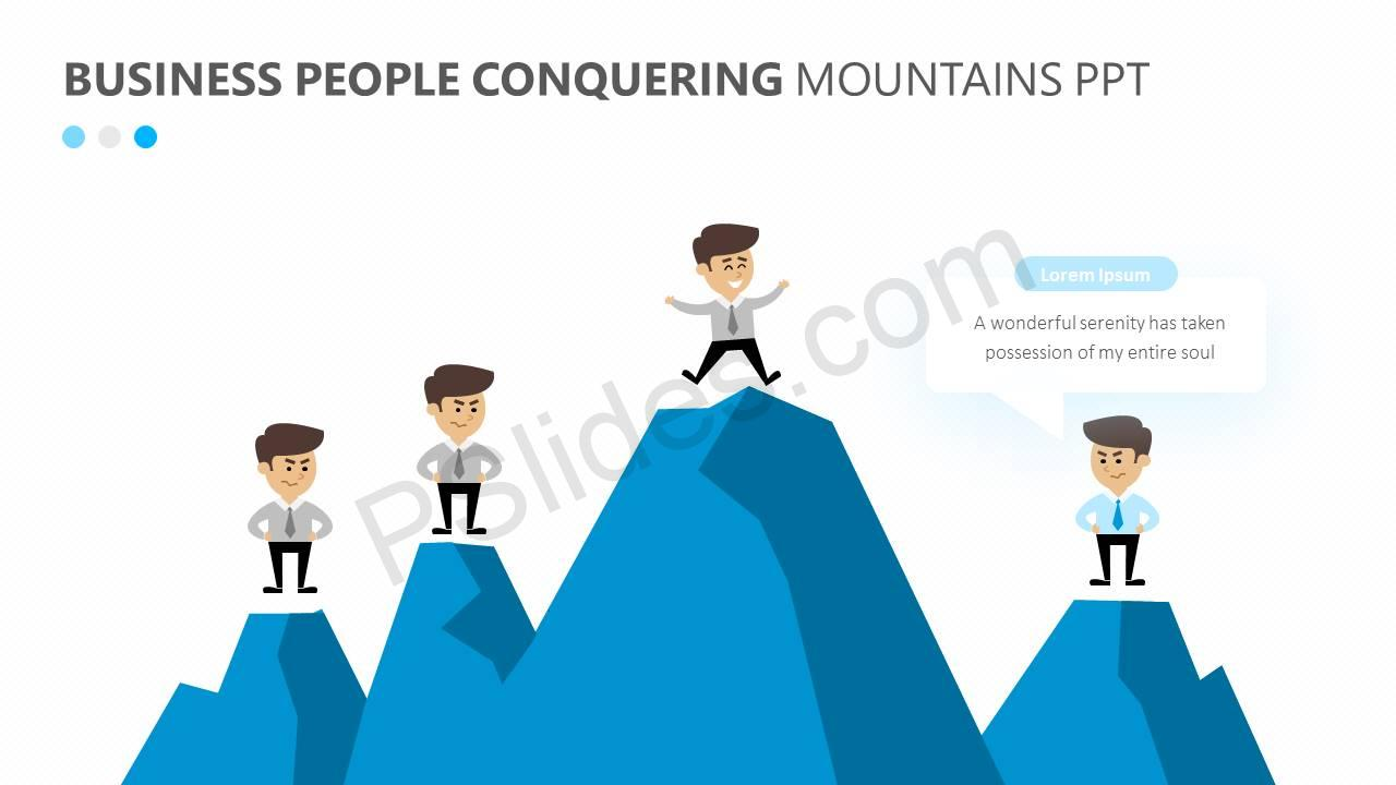Business-People-Conquering-Mountains-PPT-Slide2