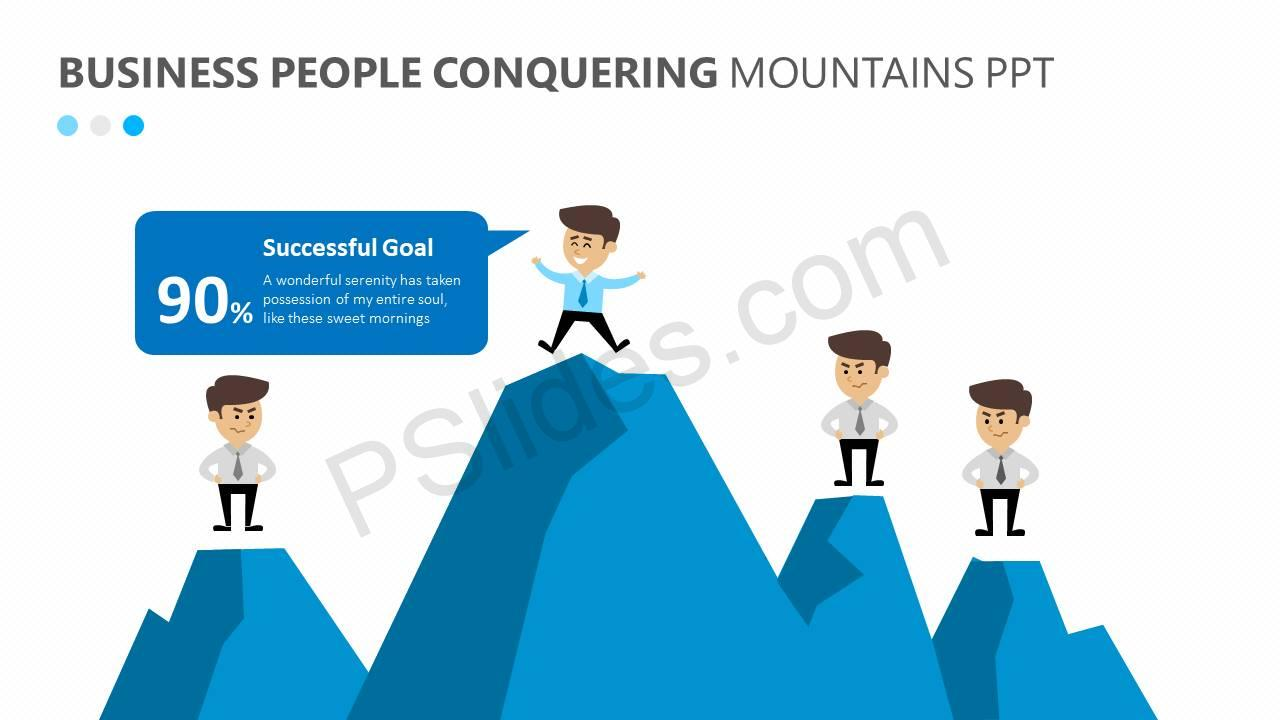 Business-People-Conquering-Mountains-PPT-Slide3