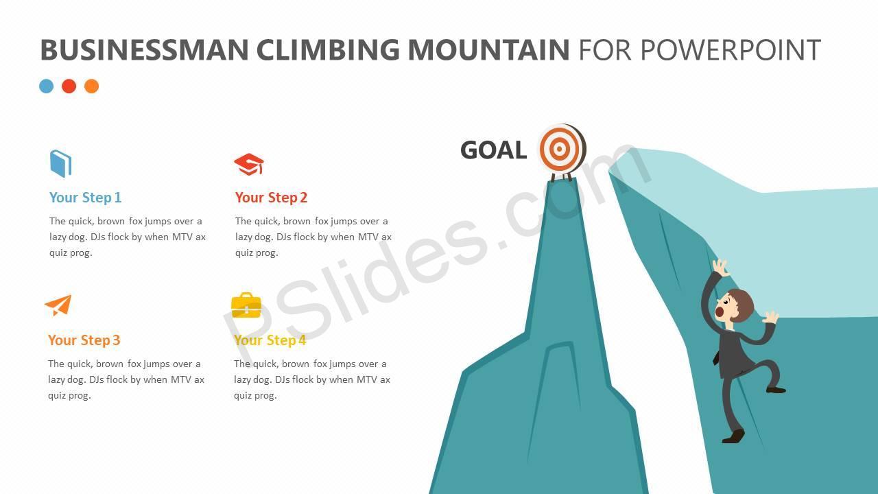 Businessman-Climbing-Mountain-PPT-Slide1