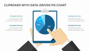 Clipboard with Data-Driven PPT Pie Chart