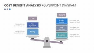 Cost Benefit Analysis PowerPoint Diagram