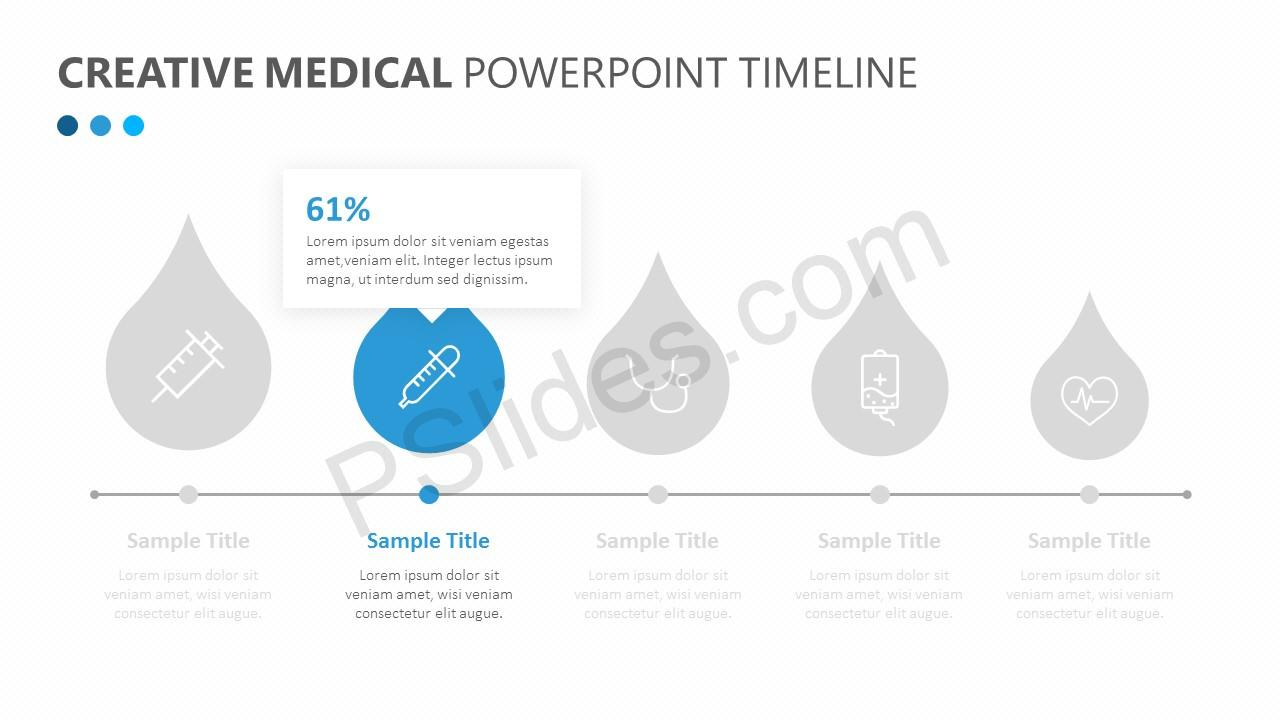 Creative Medical PowerPoint Timeline Slide 2