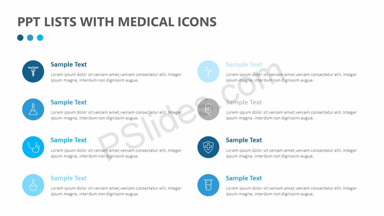 PPT Lists With Medical Icons