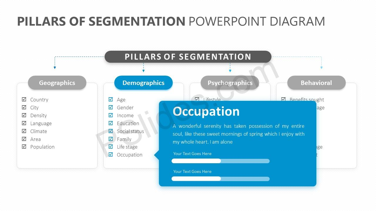 Pillars of Segmentation PowerPoint Diagram Slide 2