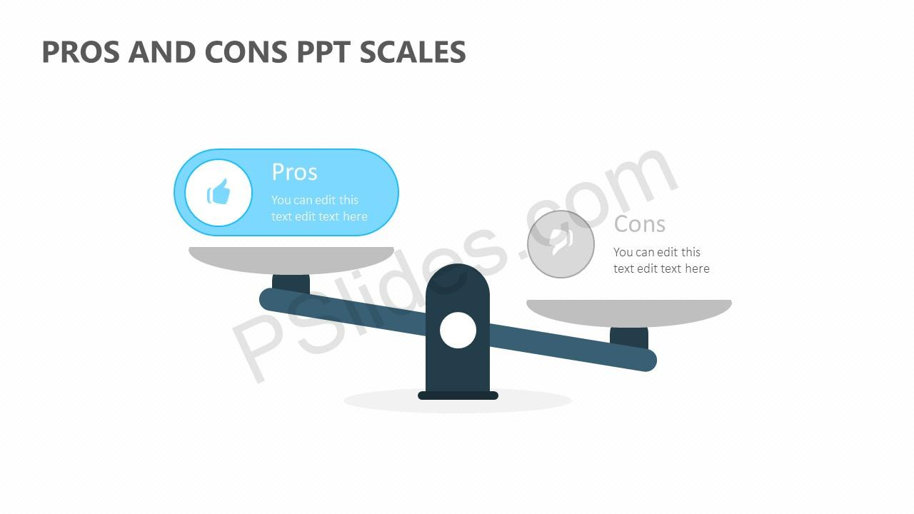 Pros and Cons PPT Scales Slide 2