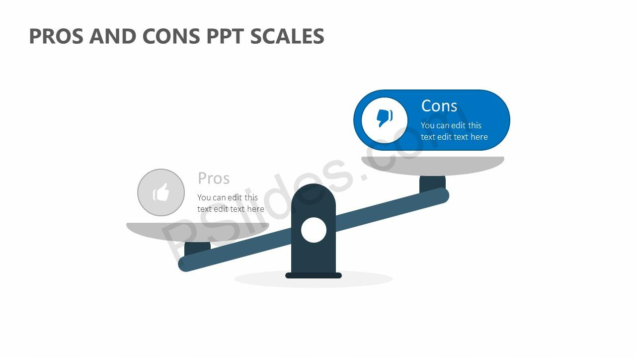 Pros and Cons PPT Scales Slide 3