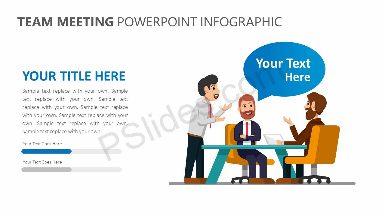 Team Meeting PowerPoint Infographic