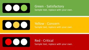 Traffic Light Risk Concept for PowerPoint