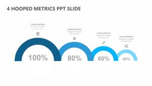 4 Hooped Metrics PowerPoint Slide