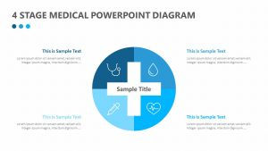 4 Stage Medical PowerPoint Diagram