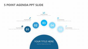5 Point Agenda PPT Slide