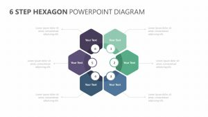6 Step Hexagon PowerPoint Diagram