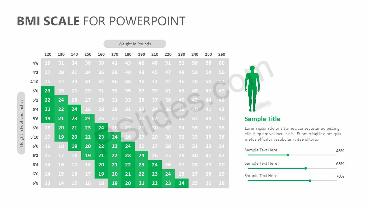 BMI Scale for PowerPoint Slide 2