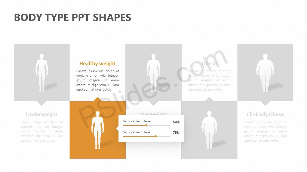 Body Type PPT Shapes Slide 2