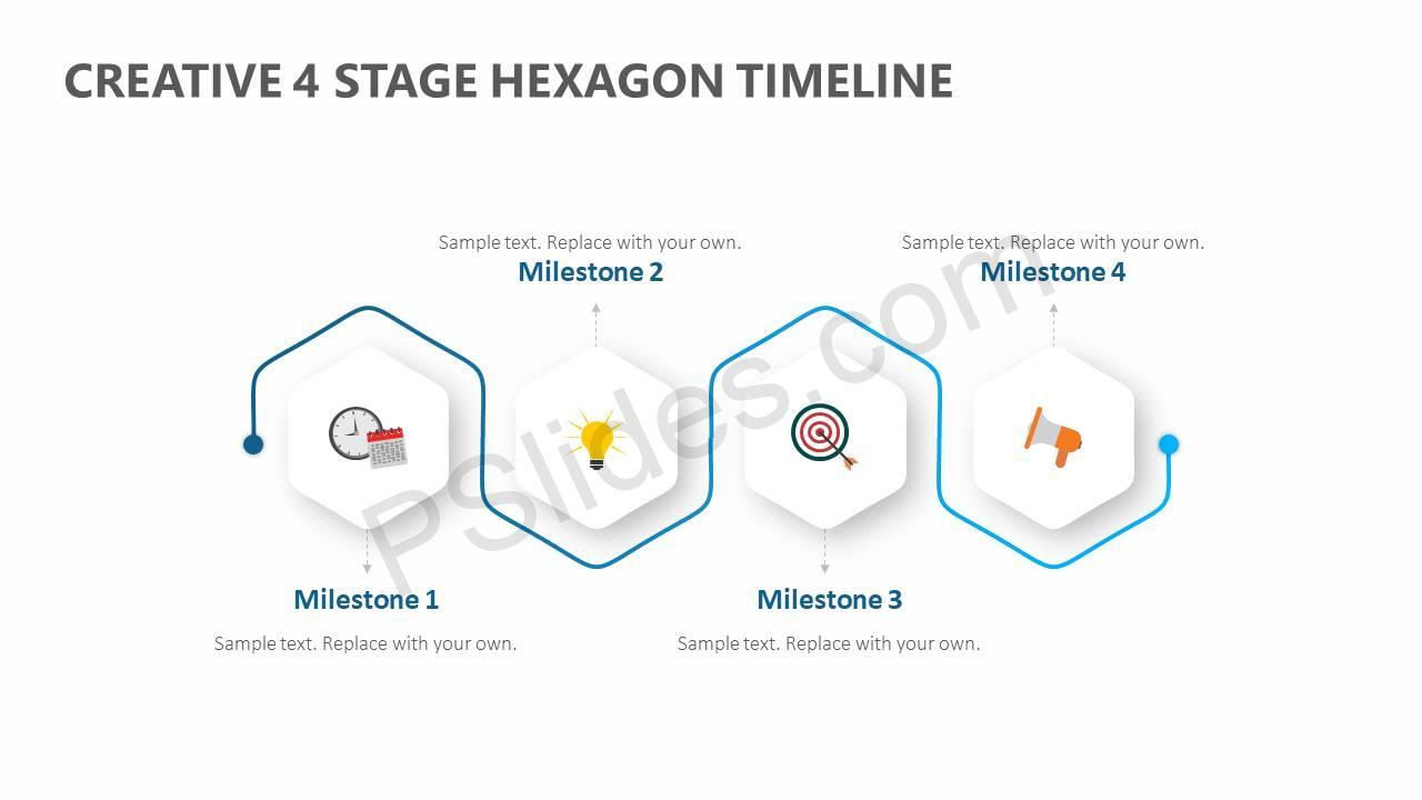 Creative-4-Stage-Hexagon-Timeline-Slide1