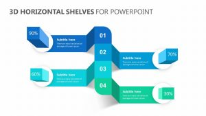 3D Horizontal Shelves for PowerPoint