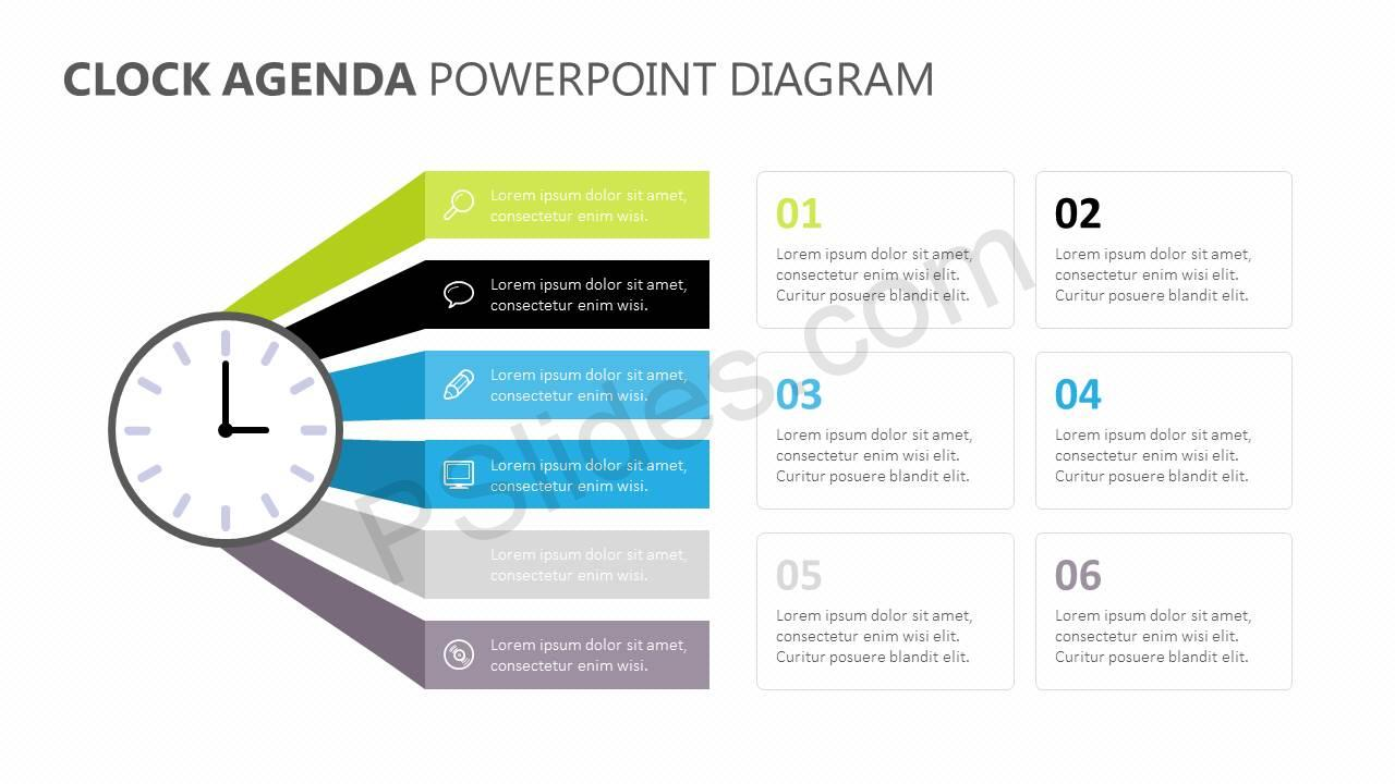 Clock-Agenda-PowerPoint-Diagram-Slide1