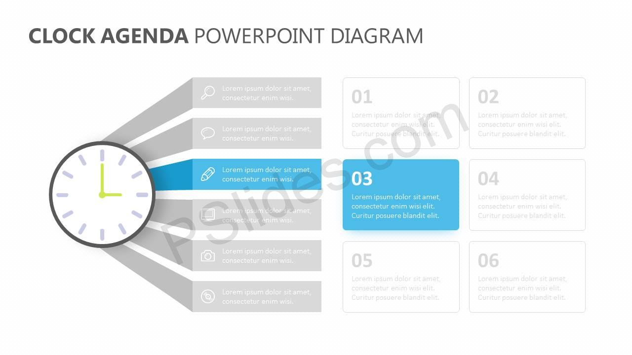 Clock-Agenda-PowerPoint-Diagram-Slide2