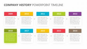 Company History PowerPoint Timeline