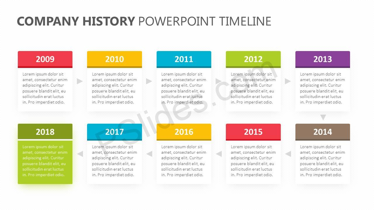 Company-History-PowerPoint-Timeline-Slide1