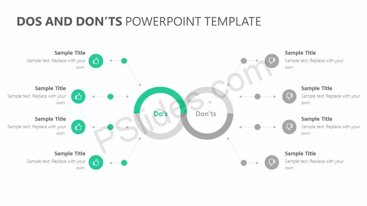 Dos and Don'ts PowerPoint Template Slide 2