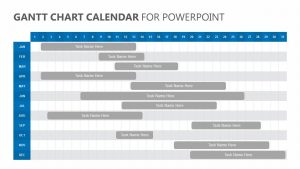 Gantt Chart Calendar for PowerPoint