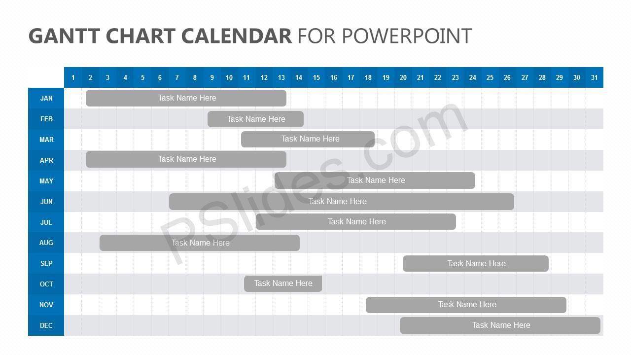 Gantt-Chart-Calendar-for-PowerPoint-Slide1