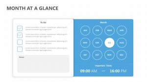Month at a Glance PowerPoint Template