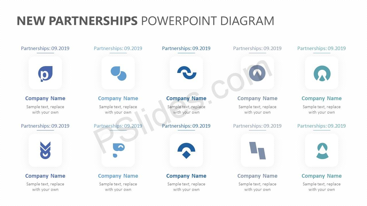 New Partnerships PowerPoint Template Slide 2