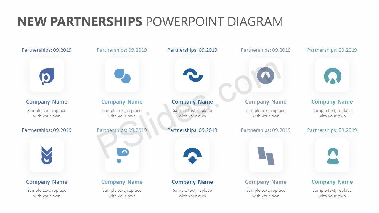 New Partnerships PowerPoint Template Slide 2