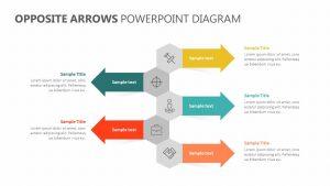 Opposite Arrows PowerPoint Diagram