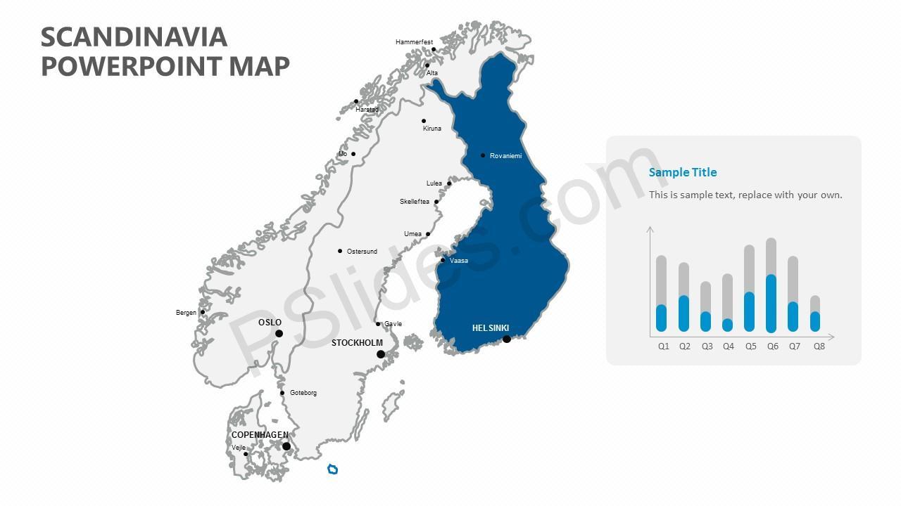 Scandinavia PowerPoint Map
