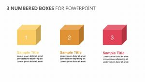 3 Numbered Boxes for PowerPoint