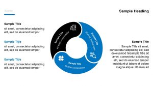 3 Stage Circular PPT Diagram with Icons