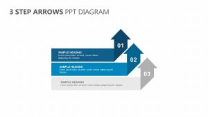 3 Step Arrows PPT Diagram