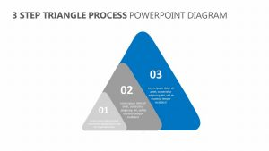 3 Step Triangle Process PowerPoint Diagram