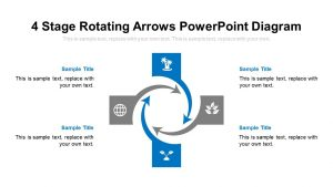 4 Stage Rotating Arrows PowerPoint Diagram
