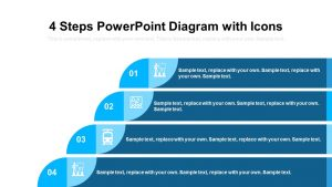 4 Steps PowerPoint Diagram with Icons