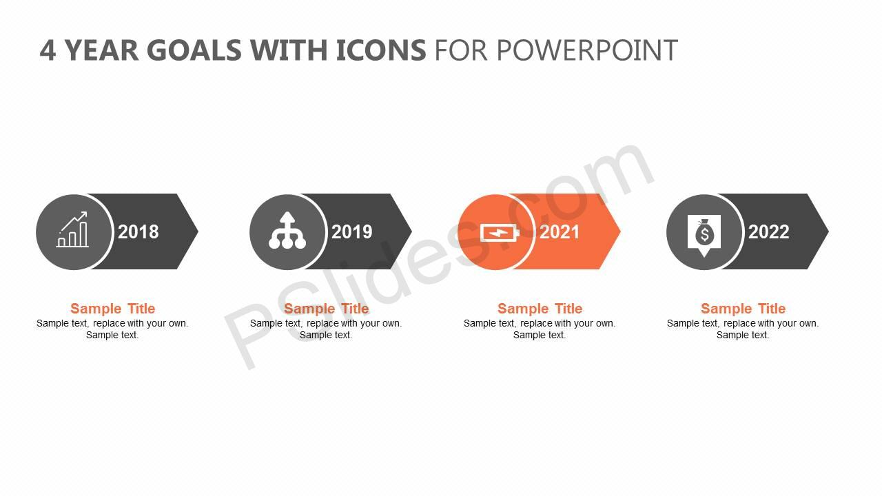 4-Year-Goals-with-Icons-for-PowerPoint-Slide1