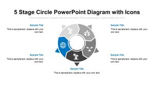 5 Stage Circle PowerPoint Diagram with Icons